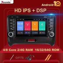 IPS DSP 2 Din Android 10 reproductor Multimedia para AUDI TT MK2 8J navegación GPS Radio unidad de DVD de Audio estéreo 8 core 4GB 64 GB G