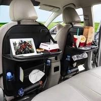 car seat back organizer storage bag foldable dining rack table tray car storage organizer travel storage bag car %e2%80%8baccessorie