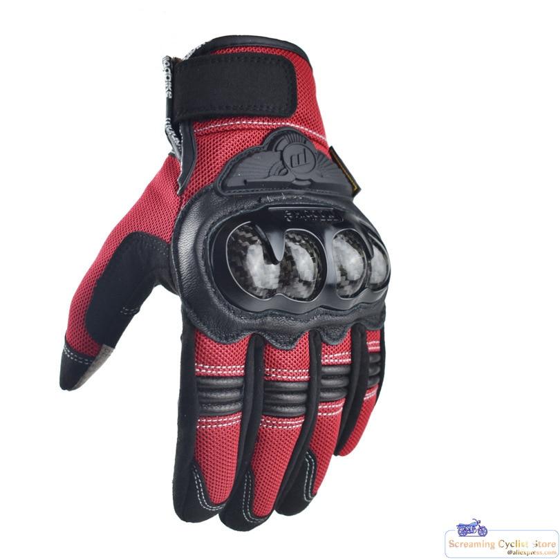Street Gloves Motorcross Full finger Gloves Carbon Fiber Shell Gloves Motorbike Touch Screen Outdoor Racing Equipment MAD02