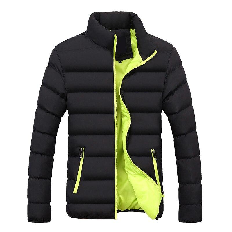 Мужская короткая стеганая куртка, зимняя однотонная мужская стеганая куртка, толстая стеганая куртка, новая зимняя стеганая куртка