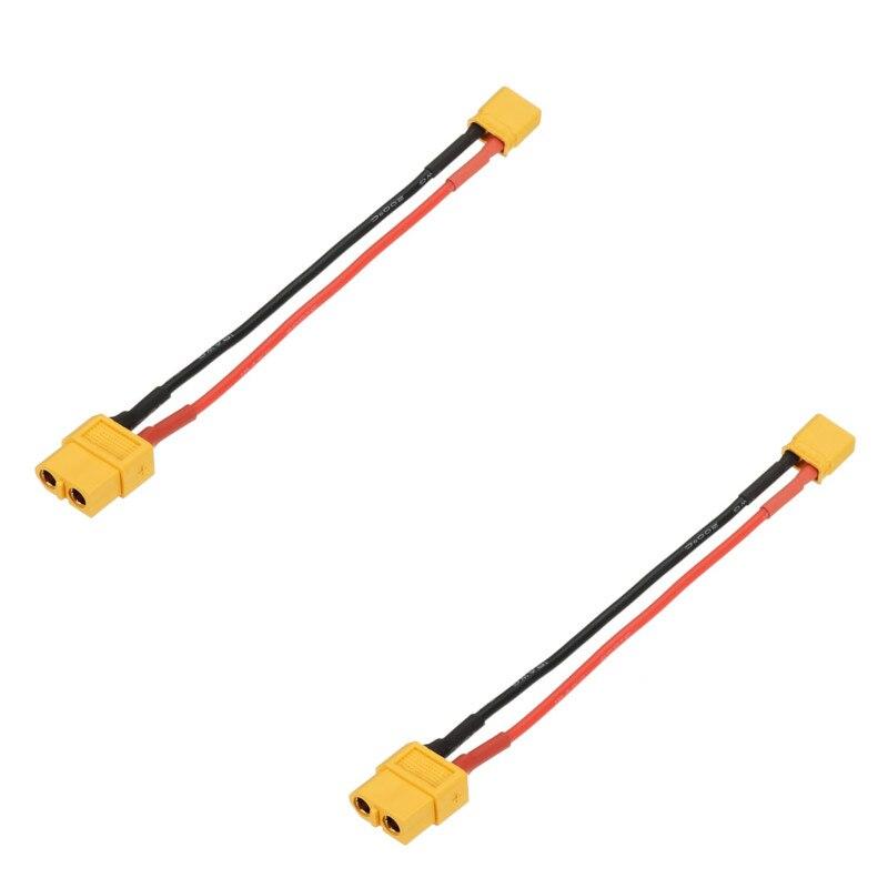 Adaptador de Cable de enchufe hembra a XT30, 100mm, 20AWG, XT60, para...