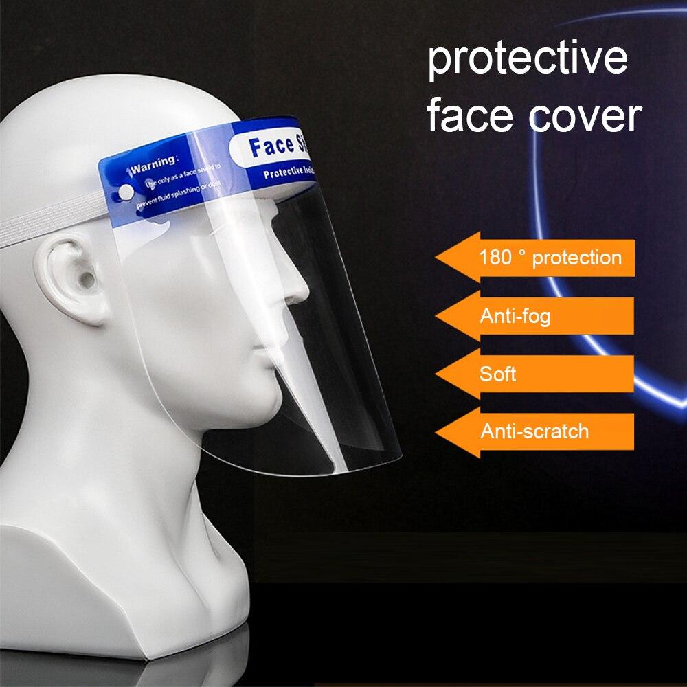 Máscara de protección facial transparente contra el Virus, máscara de protección facial removible a prueba de viento, antipolvo, antigotita, máscara de cobertura facial completa
