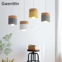 nordic macaron pendant light fixtures modern led hanging lamps loft decor industrial lamp kitchen lights suspension luminarias