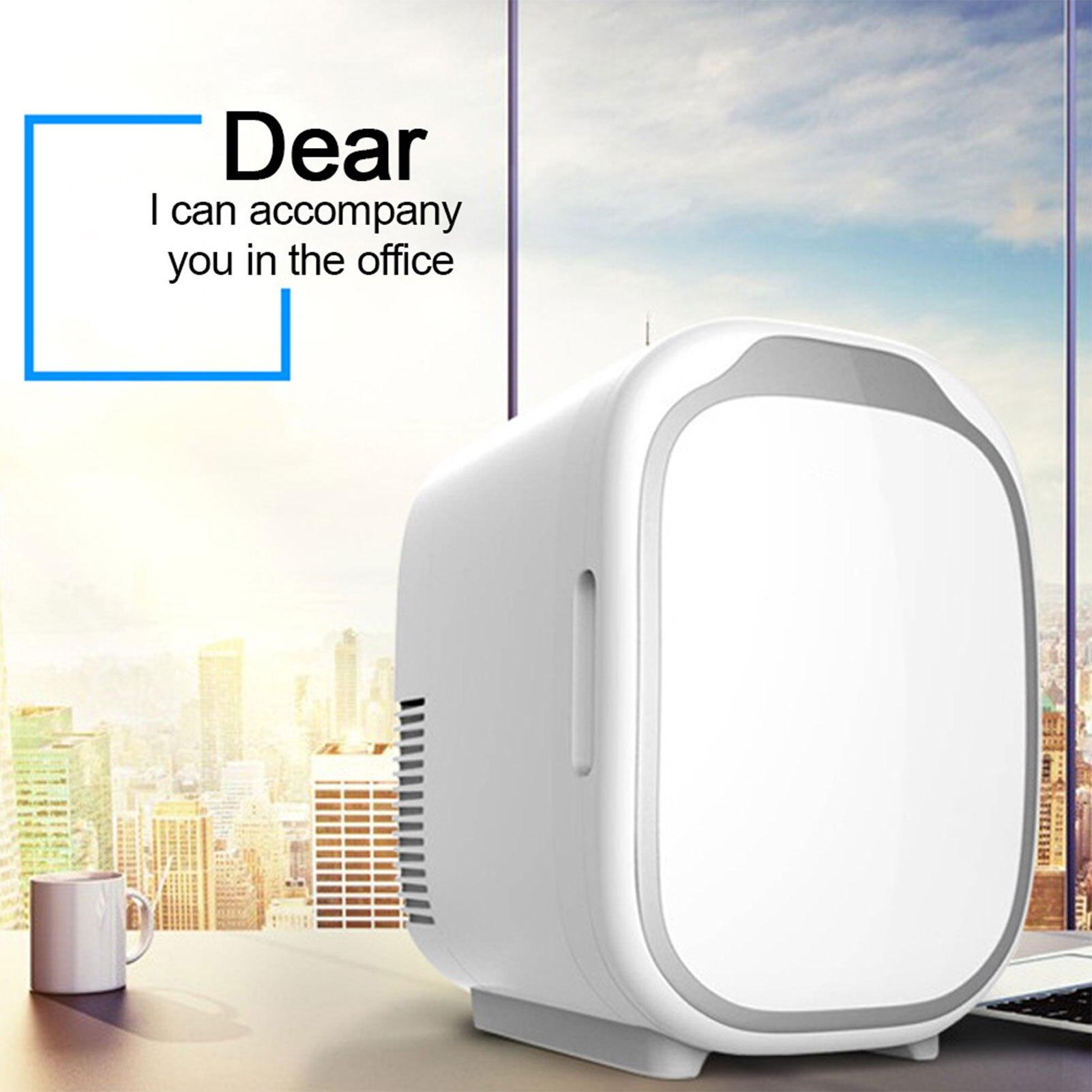 Mini refrigerador de 6 litros para coche, refrigerador de doble uso, frío...