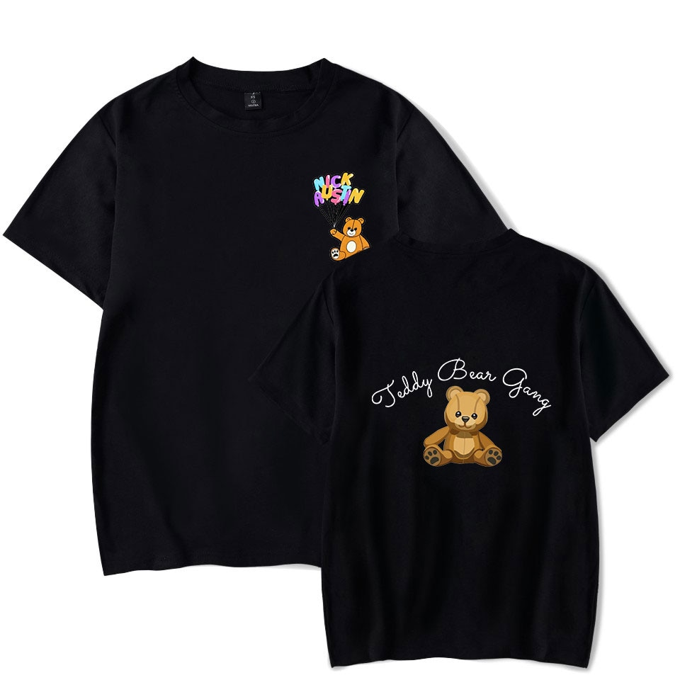 NICK AUSTIN PUFF oso de peluche camisetas mujeres/hombres de verano de manga corta Camiseta coreana suelta tops ins camiseta de tendencia camiseta de moda