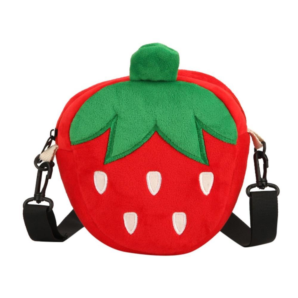 Bolsos para mujer damas niñas hombro cruzado moda Flock fruta fresa creativa Linda moda personalidad sencilla tendencia H1