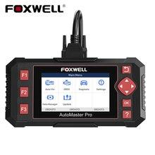 Диагностический сканер FOXWELL NT604 Elite OBD2 для двигателя, система передачи данных ABS SRS, диагностика кода автомобиля, бесплатная доставка