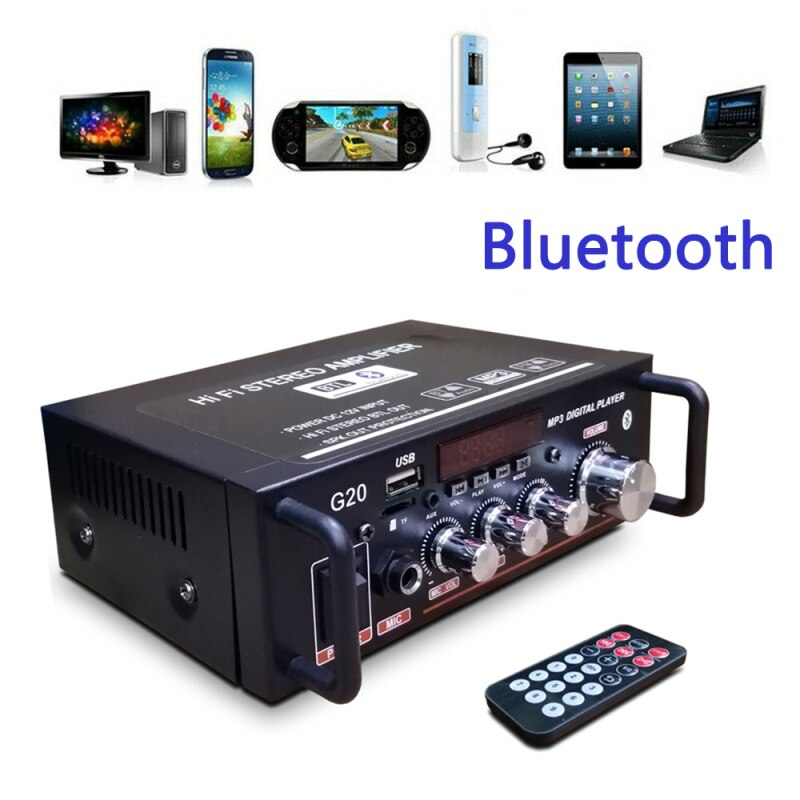 EU/US Wireless Bluetooth-compatible 5.0 Sound Digital Amplifier HiFi Subwoofer Home Theater Amplific