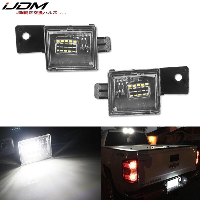 Luz Blanca de xenón iJDM OEM Compatible con Chevrolet Silverado Colorado GMC Canyon Sierra 1500 2500 3500 camión