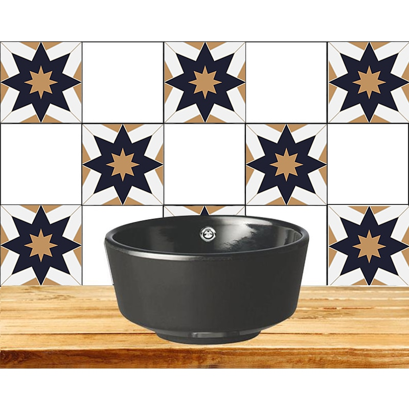 Calcomanías de pared autoadhesivas papel tapiz simulación mosaico azulejo pegatinas cocina aceite pegatinas impermeable