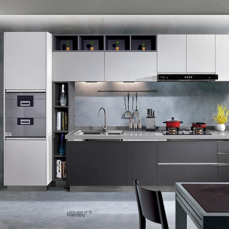 المطبخ الفولاذ المقاوم للصدأ خزانة شاملة دائم المنزل يمكن تجميعها خزانة تجهيز الجسم مخصص