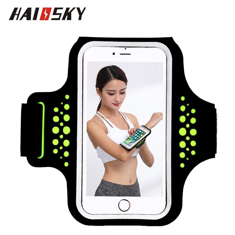 HAISSKY caja Del Brazal del Deporte Para el iphone X 6 6 s 7 8 Plus Xiaomi mi5 mi6 Redmi 4 pro Huawei P10 Pantalla Táctil de la Cubierta Del Brazal Brazal