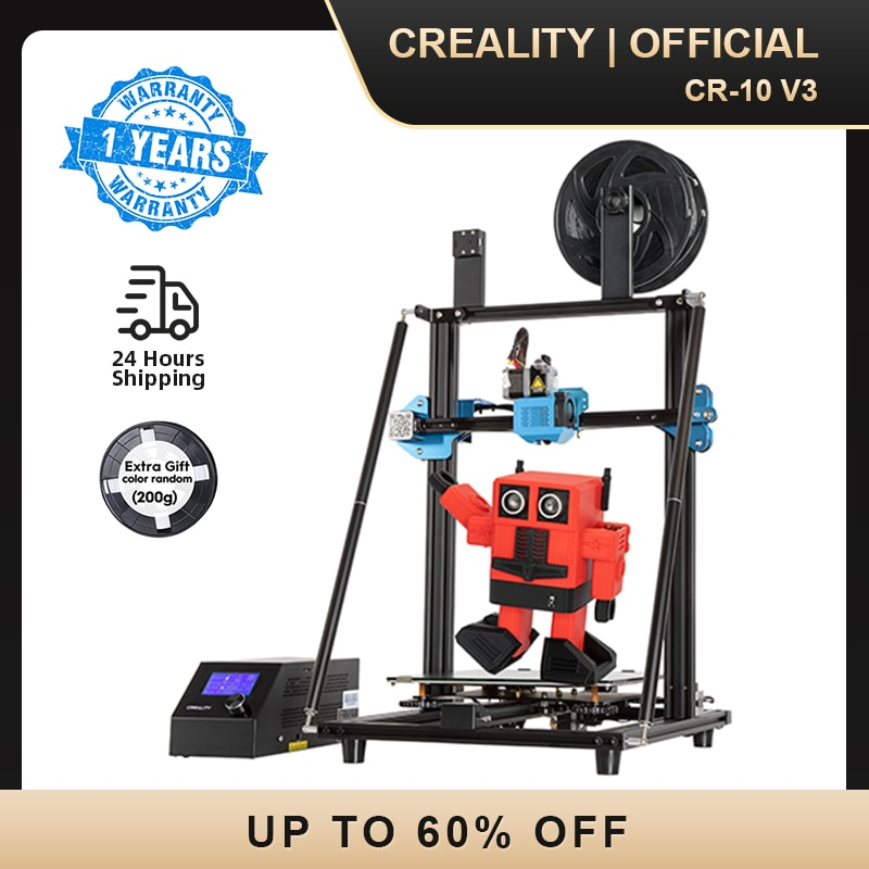 CREALITY 3D CR-10 V3 Printer Size 300*300*400mm,TMC2208 Silent Mainboard Resume Printing,3D Pinter Pro BL touch Optional