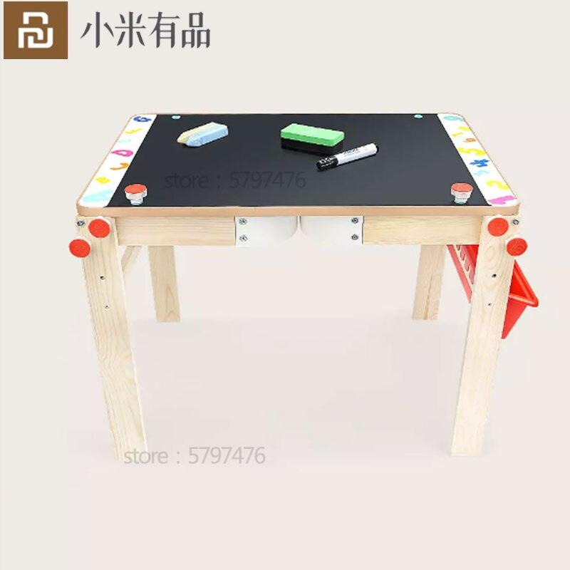¡Oferta! Pizarra multifunción Youpin 2 en 1 mesa de estudio de pintura tablero de dibujo de doble cara Escritorio de educación temprana para niño niña