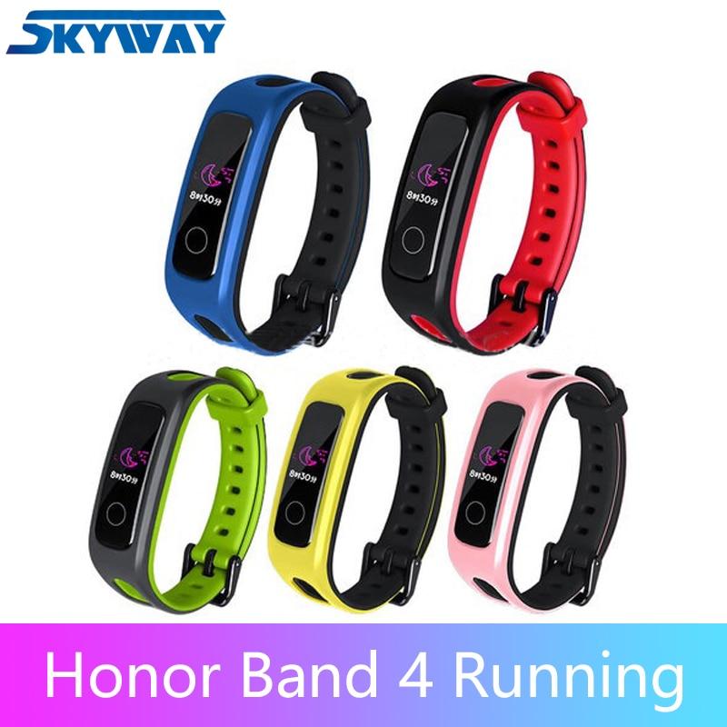 "Original Honor Band 4 Running Smart Wristband Sport Band Amoled Color 0.95"" Touchscreen Swim Posture Detect Heart Rate Sleep"