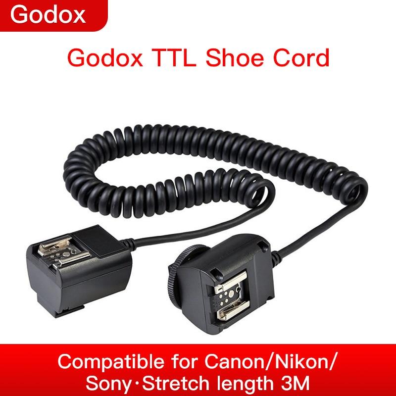 Godox TL-N TTL 3M-Flash de la Cámara Cable de sincronización para Nikon...