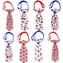 Cravate nœud papillon chien rouge et bleu   Accessoires de toilettage pour petit chien, pour lindépendance du jour du chien 4th Of July 20/50 pièces