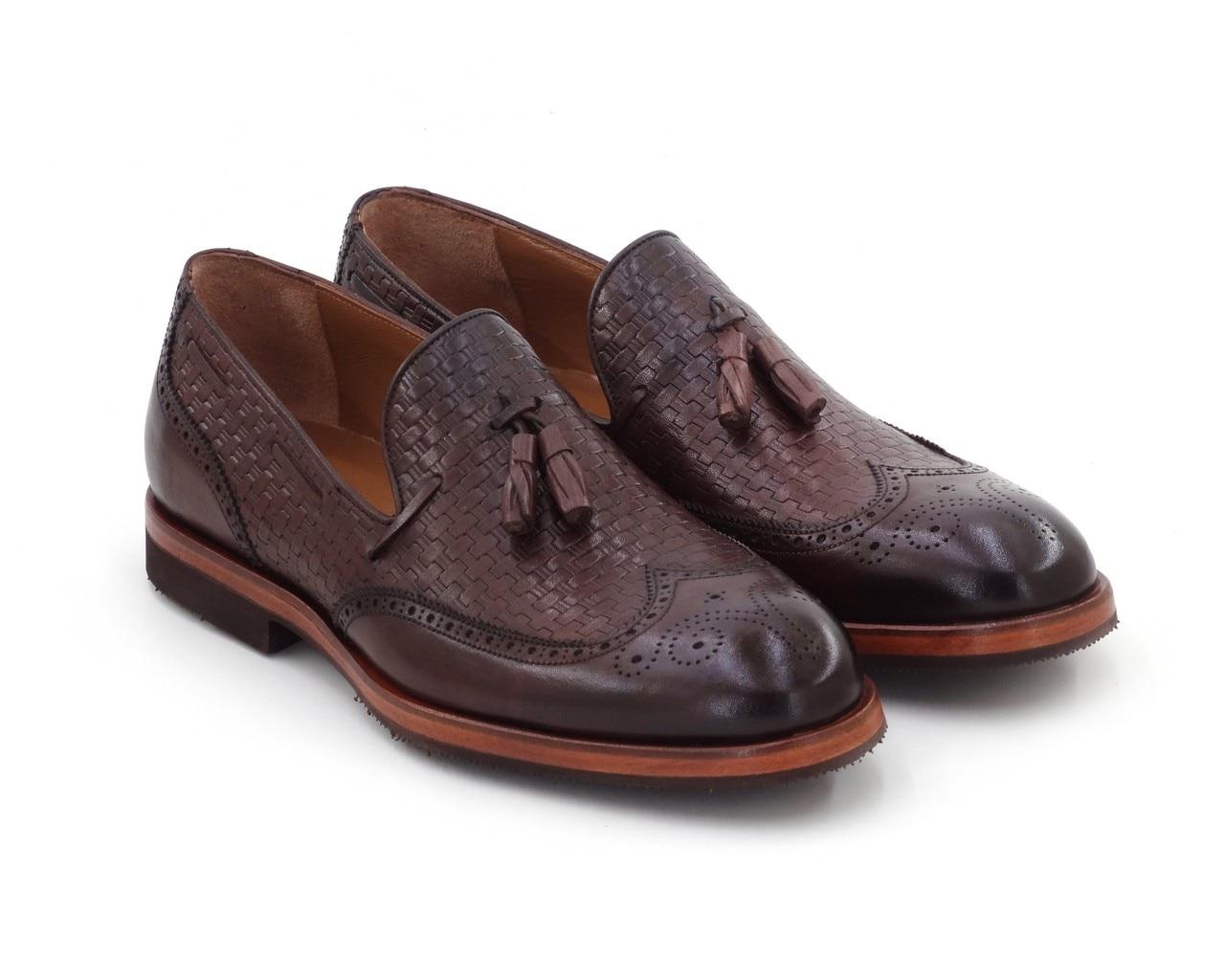 حذاء رجالي جلد طبيعي 2021 موضة أحذية الزفاف مريحة الذكور فستان الأحذية الكلاسيكية-خطوة بواسطة صنع في تركيا السائر