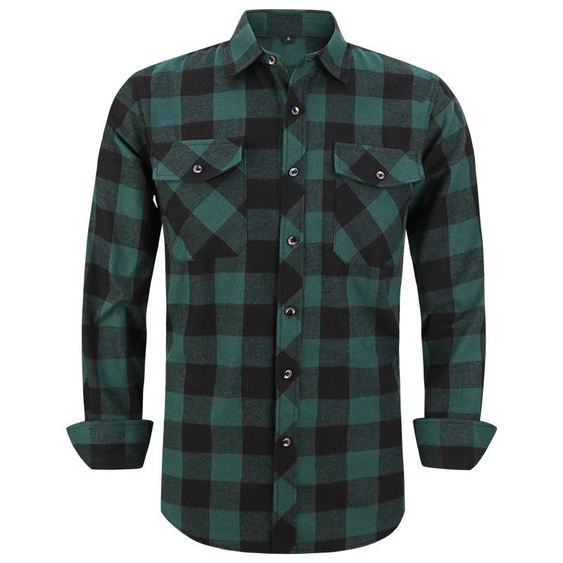 2021 جديد الرجال قميص منقوش مزود بتي شيرت داخلي ربيع الخريف الذكور منتظم صالح عادية قمصان بأكمام طويلة ل (USA حجم S M L XL 2XL)
