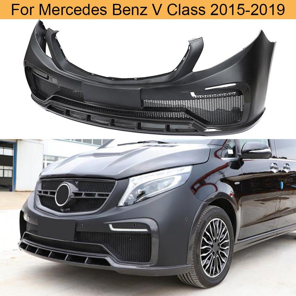 Jogos dianteiros do corpo do amortecedor do carro para mercedes-benz v classe v250 v220d 2015 - 2019 do corpo do protetor amortecedor dianteiro de fibra de carbono