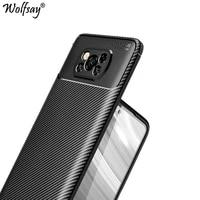 for xiaomi poco x3 pro case silicone carbon fiber shockproof back cover for xiaomi poco x3 f3 f2 pro case for xiaomi poco x3 pro