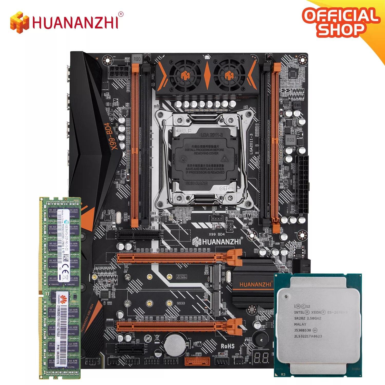 HUANANZHI X99 BD4 X99 اللوحة الأم مع إنتل سيون E5 2678 v3 مع 1*16G DDR4 RECC الذاكرة كومبو مجموعة NVME NGFF SATA USB 3.0