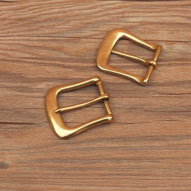 Diy couro fivela de cinto masculino cobre agulha fivelas de cinto de bronze 35mm/32mm largura