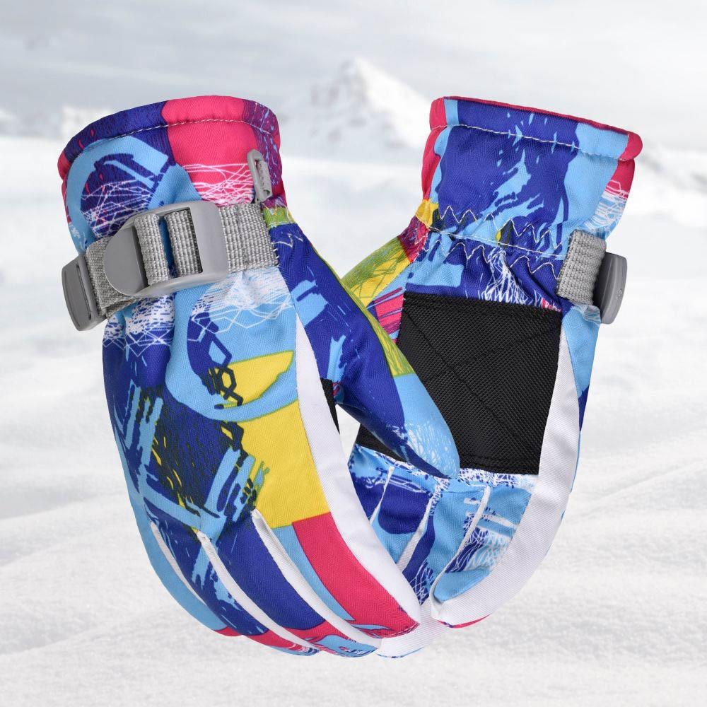 Зимние перчатки, Детские лыжные перчатки, водонепроницаемые зимние теплые перчатки, зимние лыжные перчатки, перчатки для сноуборда, зимние ...