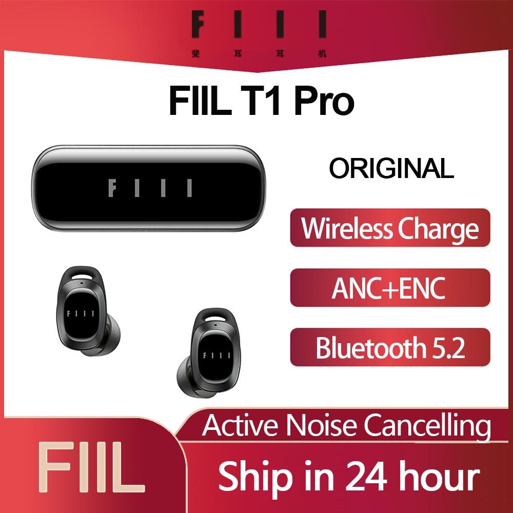 Original FIIL T1 Pro T1 Lite TWS True Wireless Earbuds Active Noice Cancelling Headset Bluetooth 5.2