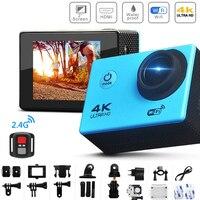 Экшн-камера Ultra HD 4K 30fps WiFi 2,0-in 170D, Подводная Водонепроницаемая камера для видеозаписи на шлем, Спортивная камера с телеуправлением