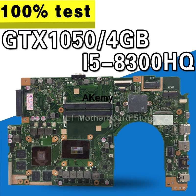 Pour For Asus VivoBook Pro 15 N580G N580GD NX580G NX580GD carte mère dordinateur portable Mianboard avec/GTX1050/4 GB I5-8300HQ
