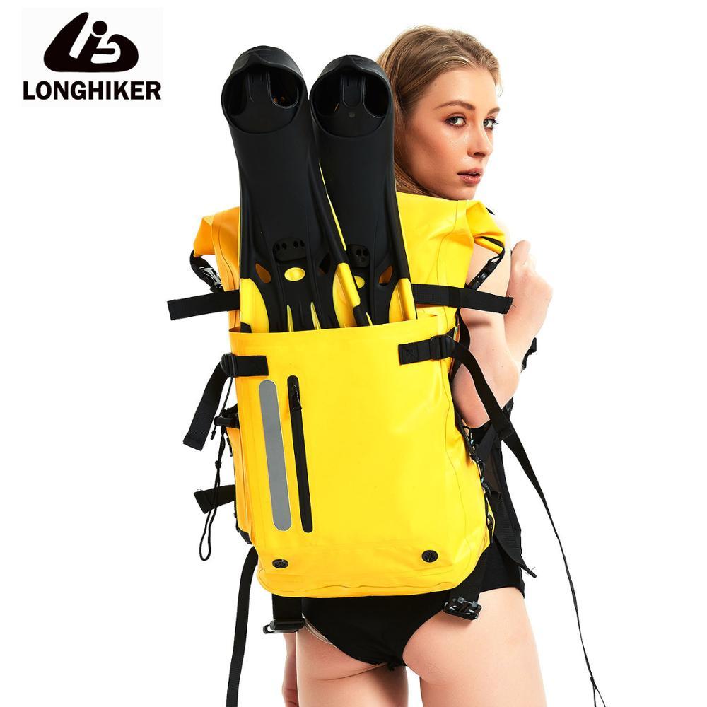 sport double layer water proof arm bag dark blue 30L Sport Waterproof Swimming Diving Bag Backpack Dry Drift Bag For Water Proof Flippers Beach Swim Bag Backpack Drybag Trekking