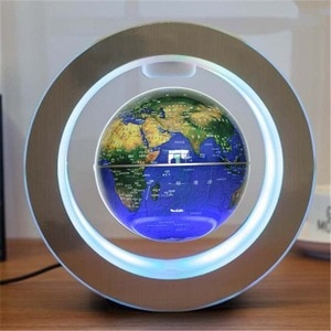 Novelty LED Floating Globe Magnetic Levitation Light Round Antigravity Balls for Kids Christmas Gifts World Map Lamps WJ11