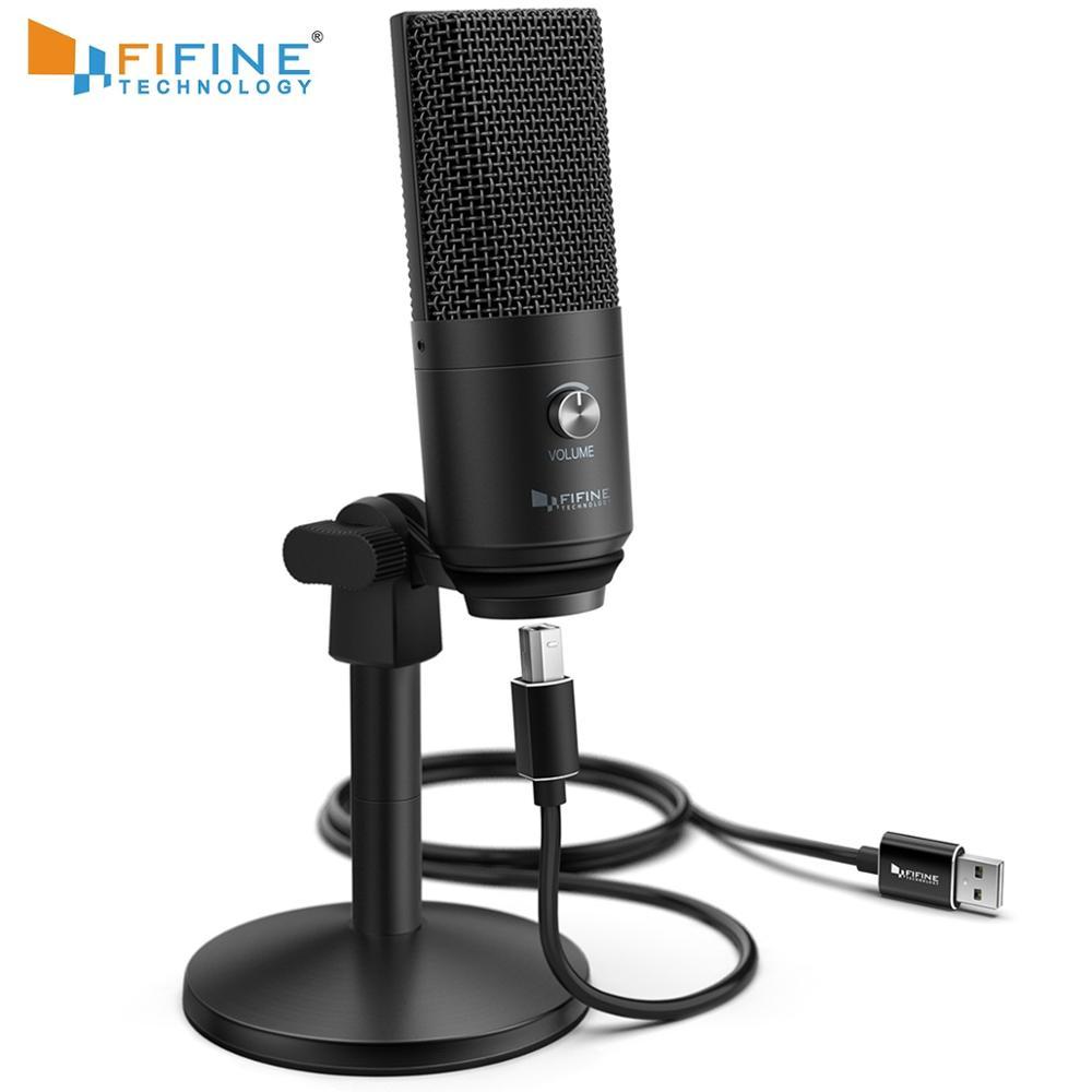 FIFINE USB ميكروفون ل ماك/pc ويندوز ، صوتي ميكروفون ل متعددة الأغراض ، الأمثل ل تسجيل ، صوت المبالغ ، ل يوتيوب Skype-K670B