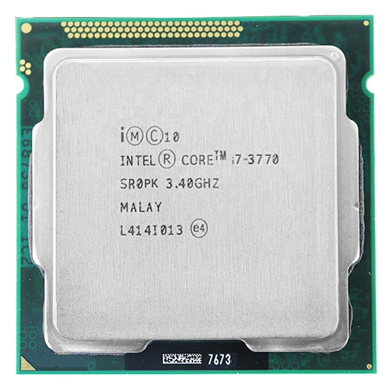 ل إنتل كور i7-3770 وحدة المعالجة المركزية I7 3770 3.4GHz 8M 77W 22nm رباعية النواة المقبس 1155 سطح المكتب وحدة المعالجة المركزية