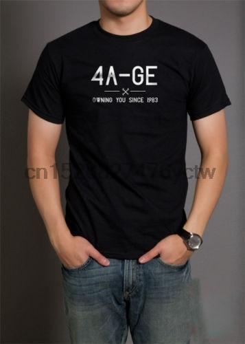 El verano de 2018, 100% de algodón Normal 4A Ge tener que Te camiseta 20V Motor del Motor Corolla 4Age personalizado camisetas