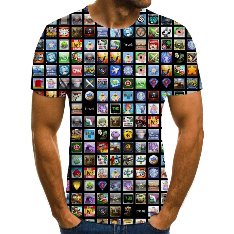 2021 new fashion men's t-shirt 3D printing summer fashion street wear casual shirt t-shirt