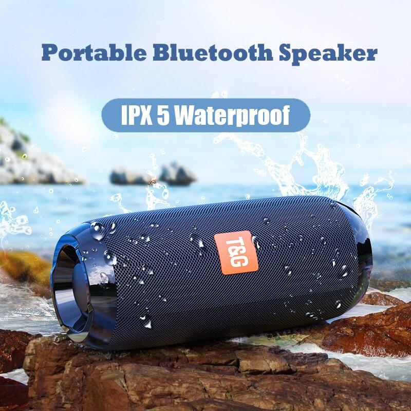 Altavoz portátil Bluetooth, columna inalámbrica, altavoces a prueba de agua, Subwoofer compatible con Radio FM USB AUX TF HD, altavoz al aire libre