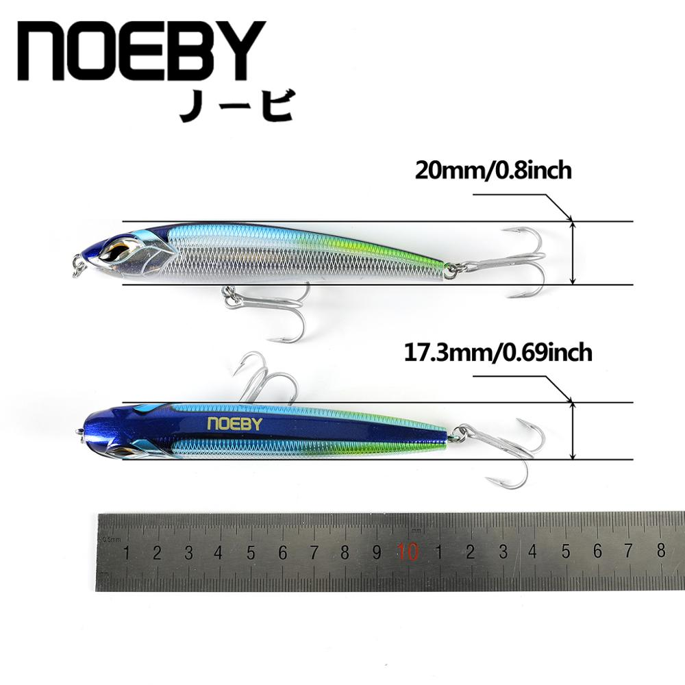 NOEBY 115mm/60.5g Sinking Pencil New Laser-Surface Fishing Lure Steel-Wire-Joint Body 3x-Strength Hook For Tuna GT Big Fish enlarge