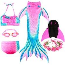 Petite queue de sirène pour les filles natation enfants maillot de bain vêtements dhabillage pour enfants Anime Cosplay enfants maillots de bain pour les filles