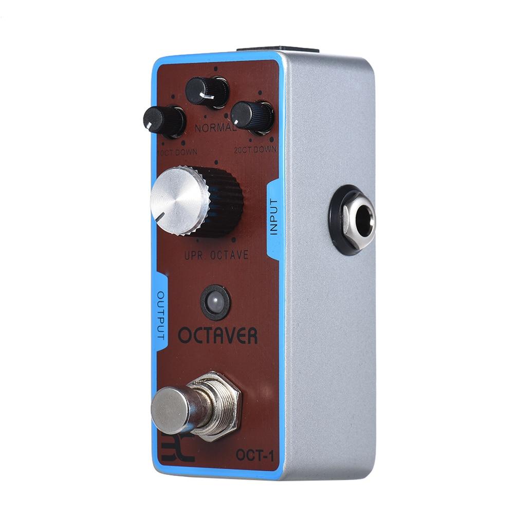 ENO EX OCT-1 octava Mini octava guitarra Pedal efecto verdadero derivación completa carcasa de Metal