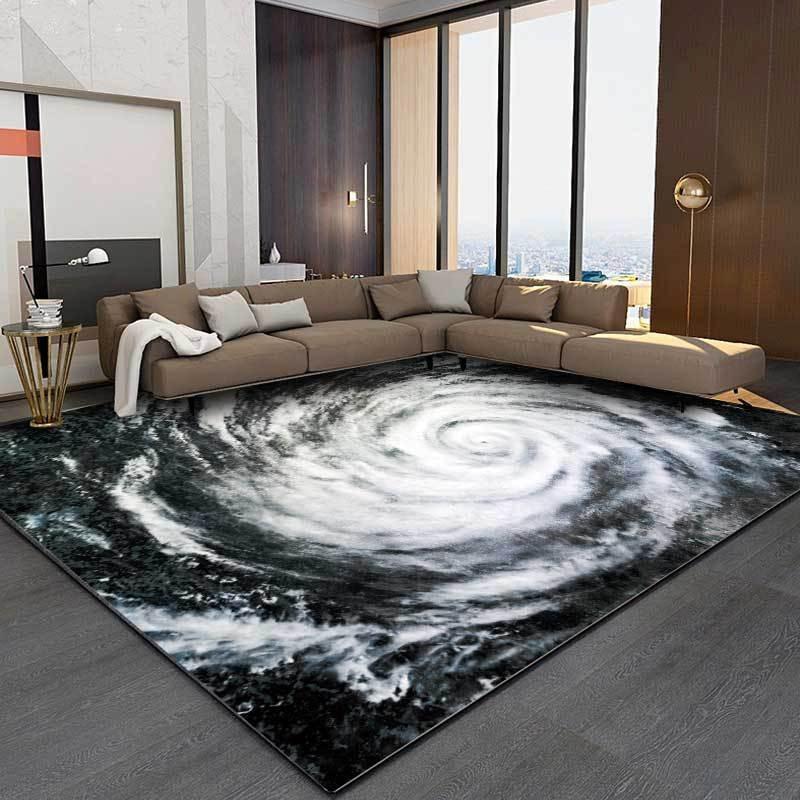 Creative Typhoon Eye Pattern Printed Carpet Soft Carpets For Living Room Anti-slip Rug Floor Mat Home Decor Tapis