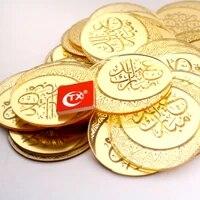 new acrylic cupcake topper gold ramadan arab eid happy baking biscuit cake topper for hajj mubarak cake decorations 5cm circle