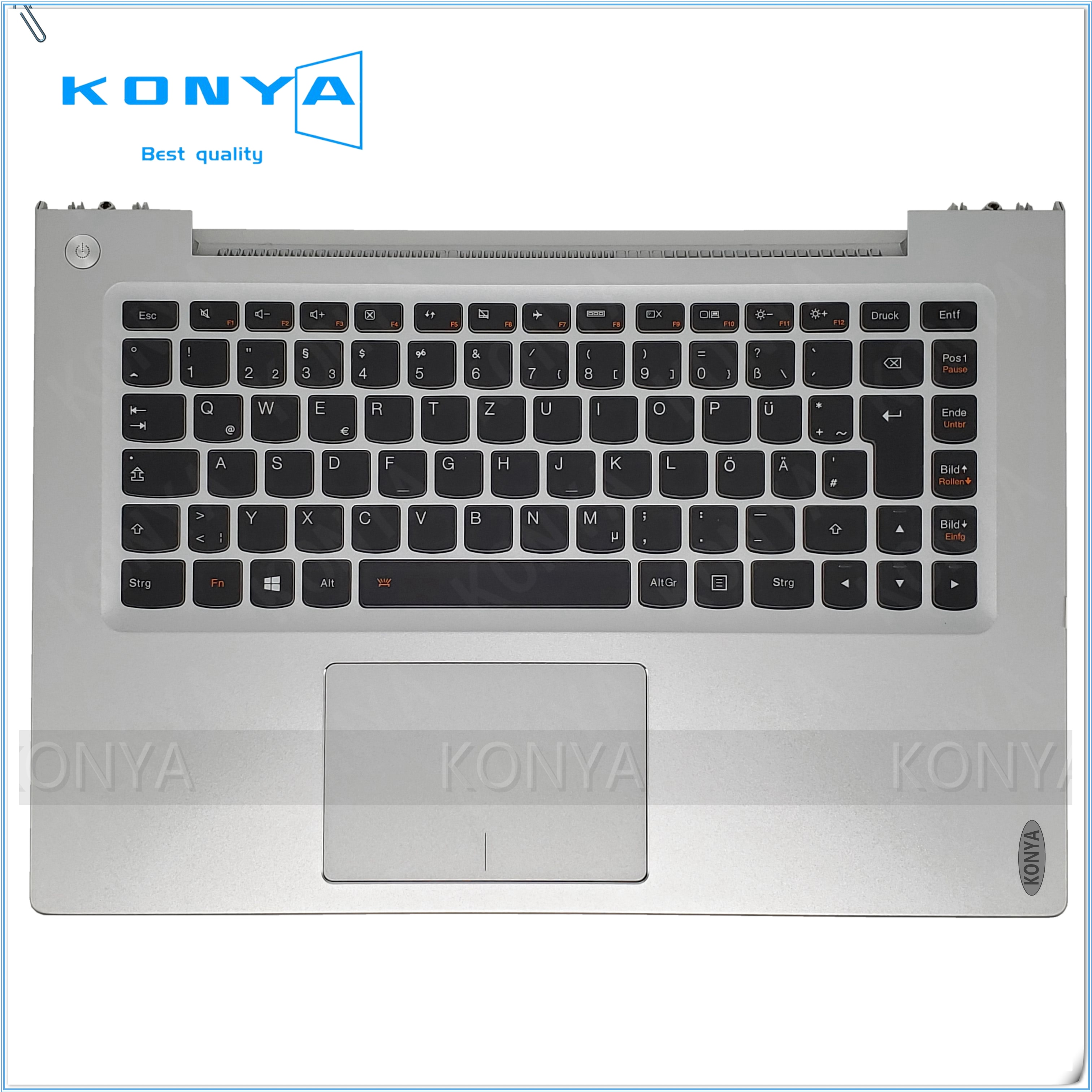 Nuevo Original para Lenovo U430 U430P U430T palmrester Touchpad y KB retroiluminado (DE) 90203161 3KLZ9TALV10