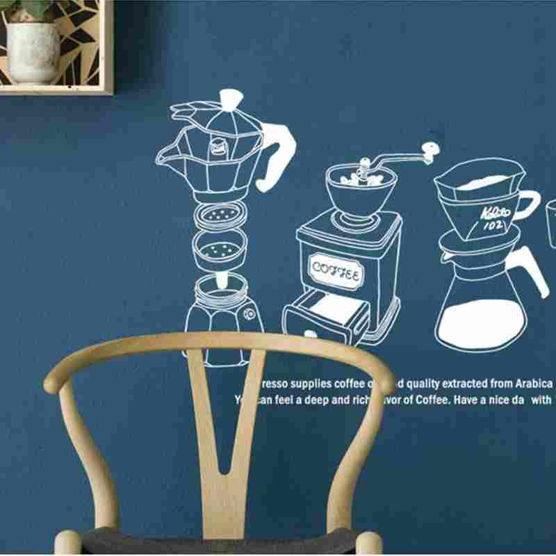 Coffee Shop Sticker Bean Milk Tea Decal Cup Poster Vinyl Art Wall Decor Mural Decoration Break Bread Cafe Glass Decals