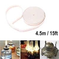 4 5m flat cotton oil lamp wick feet white flat cotton alcohol wick oil lamp wicks burner for glass oil lamps lanterns accessorie