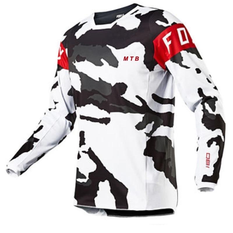 Джерси FOXMTB для мотокросса, горнолыжная футболка с длинным рукавом для езды на горном велосипеде