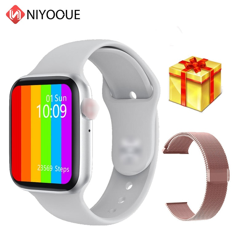 IWO W26 reloj inteligente 6 hombres mujeres ECG Monitor de frecuencia cardíaca PPG Bluetooth llamada IP68 Cuerpo impermeable temperatura Smartwatch Max pantalla