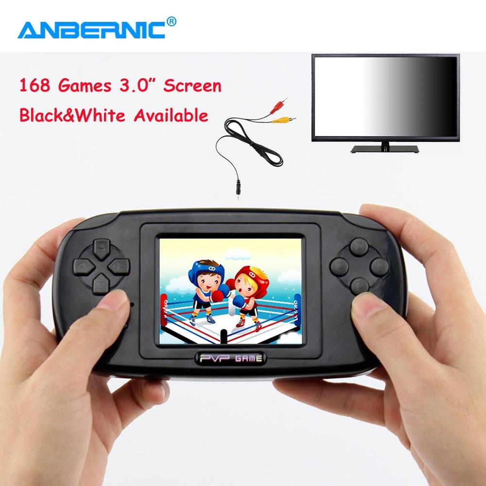 ANBERNIC PVP Handheld-Spiel-Spieler 168 TV Video Spiele Konsole 3,0 Zoll Bildschirm Tragbare Mini Retro FC Spielkonsole Kinder kind Geschenk