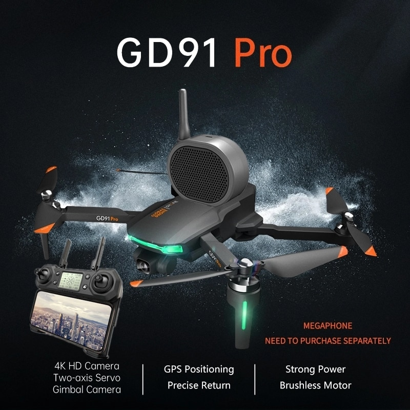Sin escobillas triple Cámara RC Drone GPS sigue en 2-eje Anti-shake cardán 4K HD CES 1200 lente M Selfie WIFI FPV RC Quadcopter